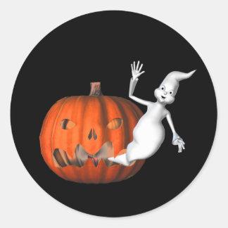 Pegatina divertido de Halloween de la linterna de