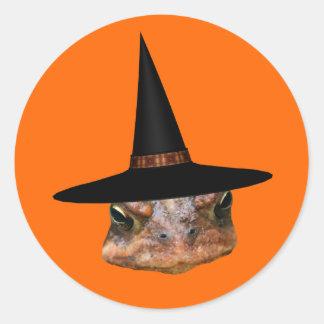 Pegatina divertido de Halloween del gorra de la br