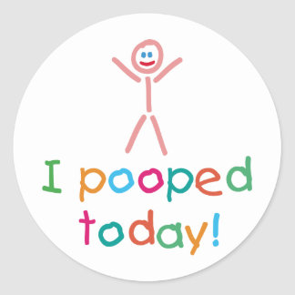 Pegatina divertido de I Pooped hoy