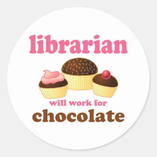 Pegatina divertido del bibliotecario