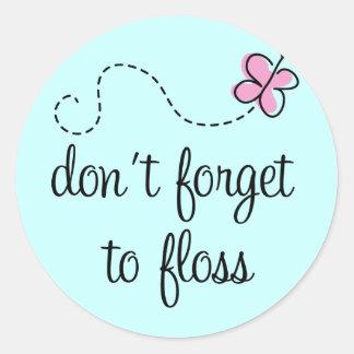Pegatina divertido del higienista dental de la