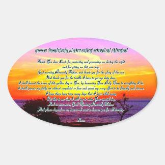 Pegatina divino del rezo del padre de la buena