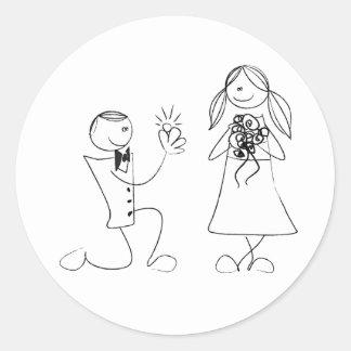 Pegatina doblado del boda de la oferta de la
