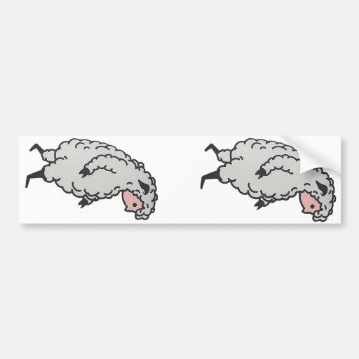 Pegatina doble de Sheeple Pegatina Para Auto