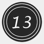 Pegatina doble del negro del círculo 13