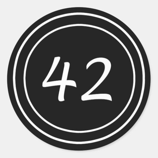 Pegatina doble del negro del círculo 42