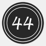 Pegatina doble del negro del círculo 44