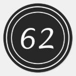 Pegatina doble del negro del círculo 62