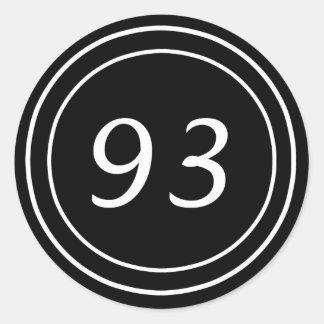 Pegatina doble del negro del círculo 93
