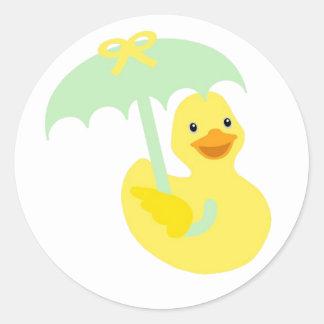 Pegatina Ducky de goma de la fiesta de bienvenida