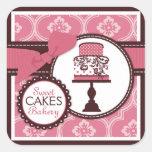 Pegatina dulce del negocio del pegatina de la tort