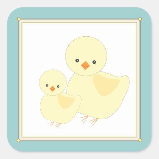 Pegatina dulce del regalo del polluelo del bebé