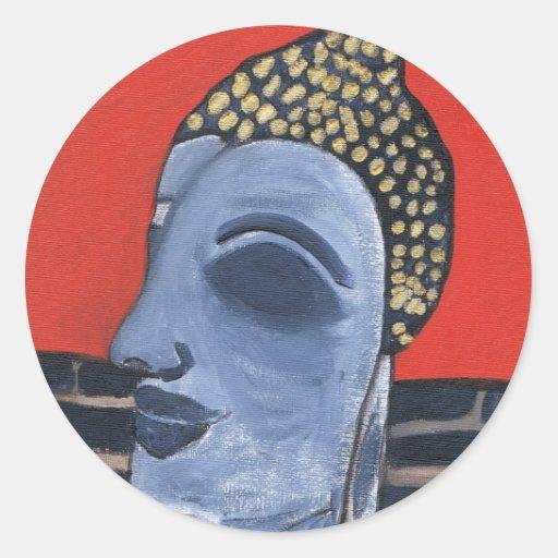 pegatina durmiente de Buda