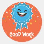 Pegatina educativo del buen trabajo