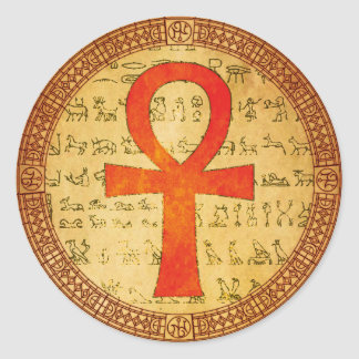 Pegatina egipcio - cruz de Ankh