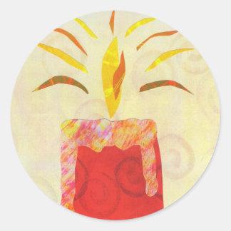 Pegatina el destellar de la luz de una vela