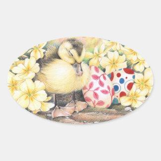 """Pegatina el """"dormir Pascua Ducky"""""""