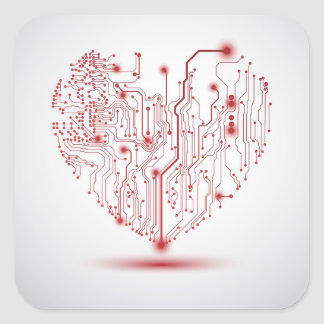 Pegatina eléctrico del corazón
