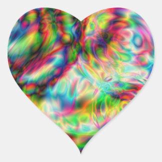 Pegatina electromágnetico del corazón