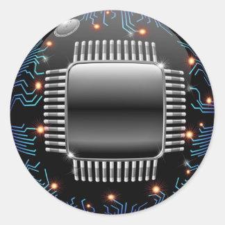 Pegatina electrónico del circuito de la placa