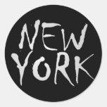 Pegatina elegante de Nueva York