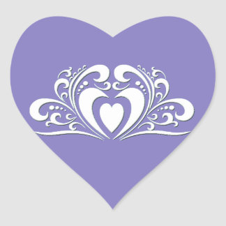 Pegatina elegante del corazón del boda