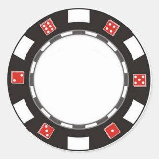 pegatina en blanco del microprocesador del pocker