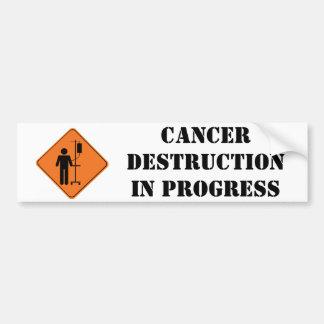 pegatina en curso de la destrucción del cáncer pegatina de parachoque