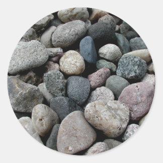 Pegatina en forma de corazón de la roca