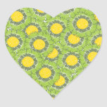Pegatina en forma de corazón de los flores