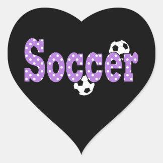 Pegatina en forma de corazón del fútbol
