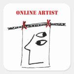 Pegatina en línea del artista