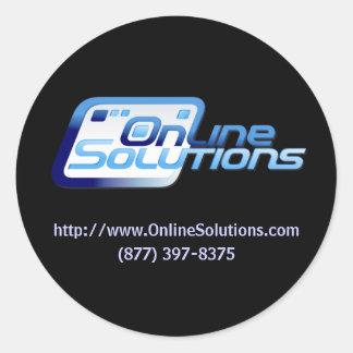 Pegatina en línea del producto de las soluciones