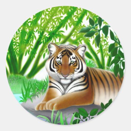 Pegatina en peligro del tigre de Sumatran