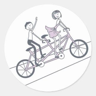 Pegatina en tándem de la bici por bodas de la