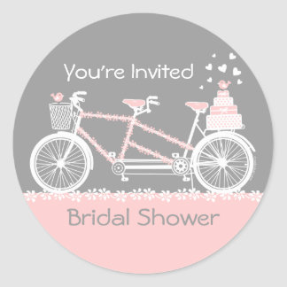 Pegatina en tándem de la ducha del boda de la bici