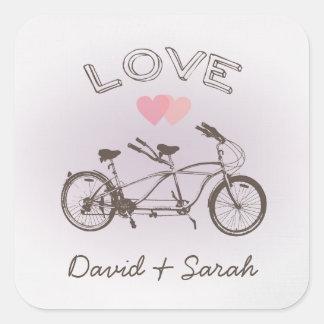 Pegatina en tándem del amor de la bicicleta