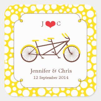 Pegatina en tándem del favor de la bici (puntos
