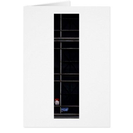 pegatina en ventana tarjeta de felicitación