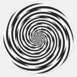 Pegatina, endiablado espiral de la hipnosis pegatina redonda