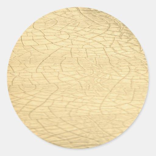 Pegatina enmarañado de la piedra del oro