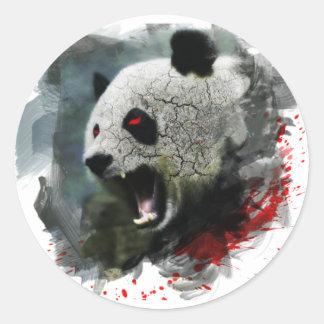 Pegatina enojado de la panda