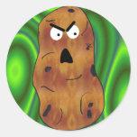 Pegatina enojado de la patata sin el texto