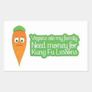 Pegatina enojado de la zanahoria del vegano