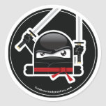 Pegatina enojado de las habilidades de Ninja