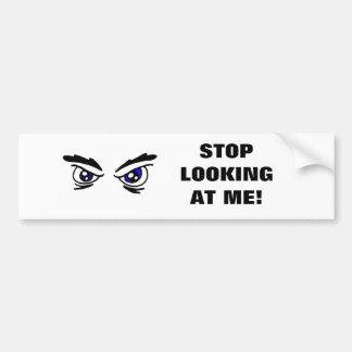 Pegatina enojado de los ojos etiqueta de parachoque