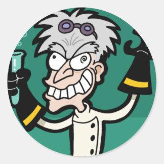 Pegatina enojado del científico