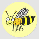 Pegatina enrrollado de la abeja de la miel de la
