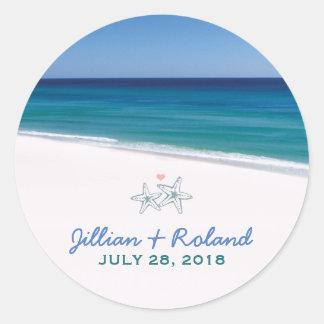 Pegatina escénico del boda de playa