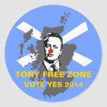 Pegatina escocés de la independencia de la zona